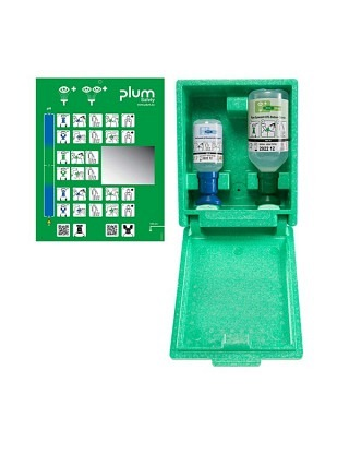 Augenspülstation pH Neutral 200ml/NaCl 500ml Wandbox