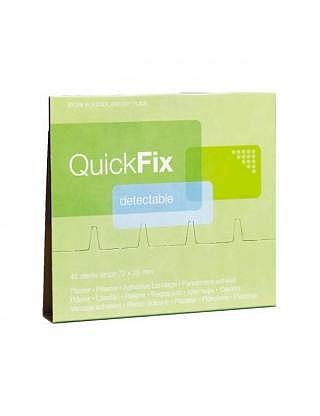 QUICKFIX refill,pansement textile élastique détectable,6x45 pièce
