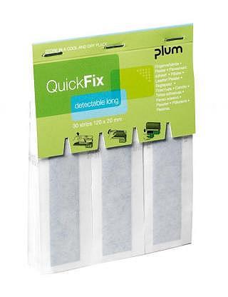QUICKFIX Refill,pansement textil detectabel long,avec 6x30 pièce