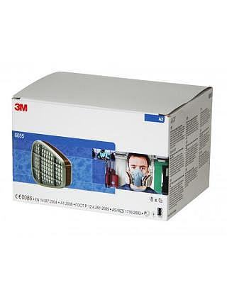 3M 6055 Filter Gas und Dämpfe A2 4x2 S..