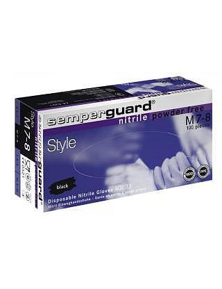 Einweg Nitril Handschuhe Semperguard Style schwarz