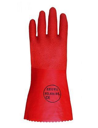 SHOWA 620 Handschuhe mit rauer PVC-Bes..