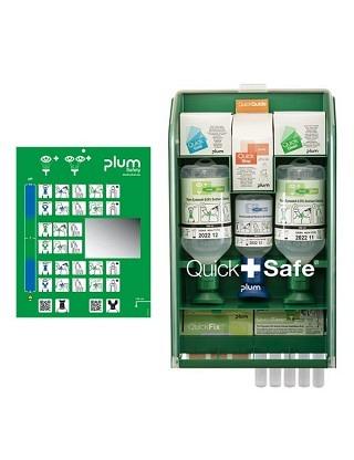 QuickSafe Complete Armoire de premiers secours avec lave-oeil