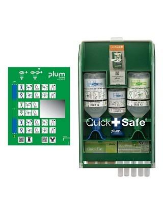 QuickSafe Chemical Industry Armoire de premiers secours avec lave-oeil
