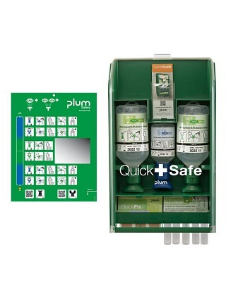 QuickSafe Basic Armoire de premiers secours avec lave-oeil