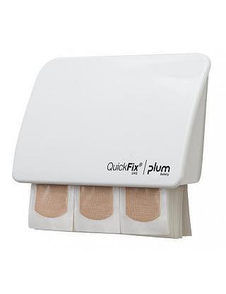 QUICKFIX UNO WHITE Pflaster-Dispenser,Textil elastisch mit 45 Stück