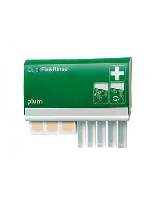 Plum QuickFix & Rinse Spender mit Augenspülampullen NaCl 5 Stk. à 20ml und 45 Pflaster