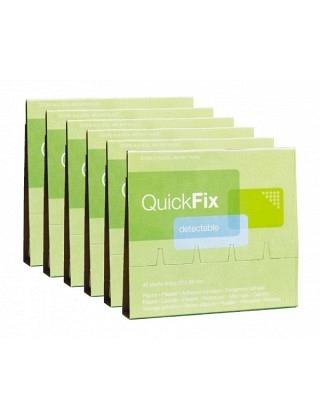 QUICKFIX Refill,Textil elastisch detekdierbar, 1 Stk Nachfüllpack mit 45 Pflaster