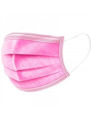 Hygienemasken pink,  3-lagig, Typ II R (Box à 50 Stück)